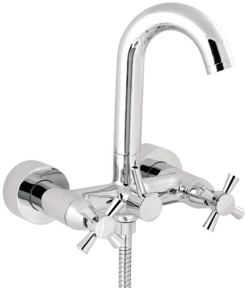 Wall Mounted Bath Shower Mixer Tap With Shower Kit Deva Apostle D Apo106wm Truerooms Com