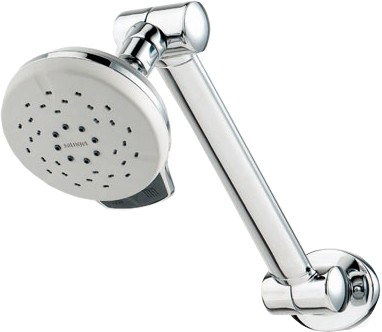 Water Saving Shower Heads >> Awatea High Rise Adjustable Wall Mounted Shower Head. Deva Satinjet D-SJA003 TrueRooms.com
