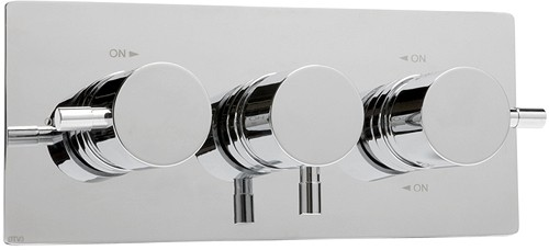 "Thermostatic TMV2 1/2"" Triple Concealed Shower Valve (Chrome). additional image"