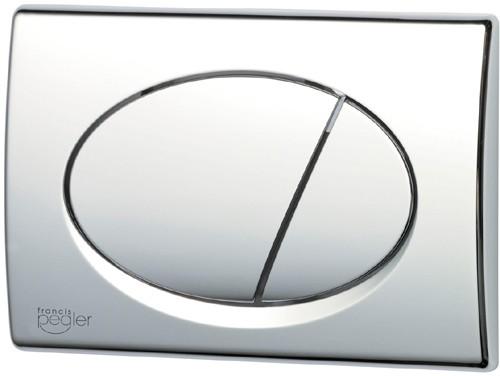 Opal Flush Plate Chrome Plated 274x165mm Pegler Frames