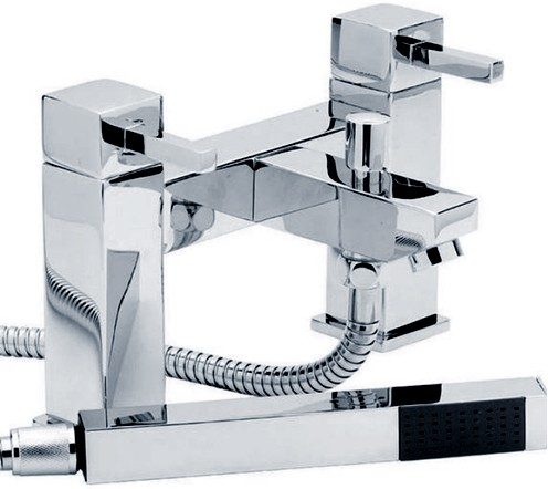 Bath Shower Mixer Tap With Shower Kit (Chrome). additional image