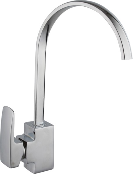 Adele Kitchen Tap With Single Lever Control (Chrome). additional image