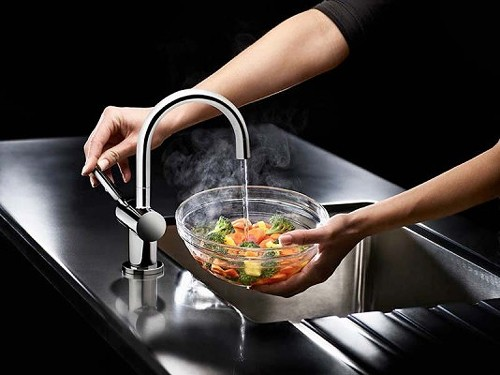 Steaming Hot Filtered Kitchen Tap (Chrome). additional image