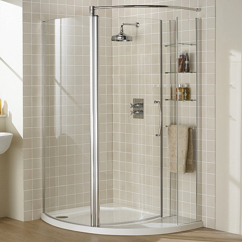 Right Hand 1255x965 Compartment Shower Enclosure & Tray. additional image