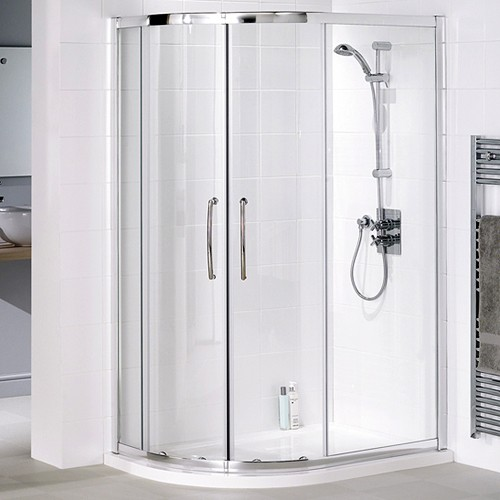 Left Hand 1000x800 Offset Quadrant Shower Enclosure & Tray. additional image