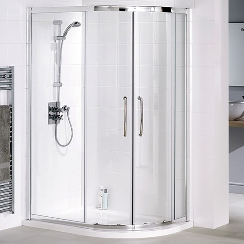 Right Hand 1200x800 Offset Quadrant Shower Enclosure & Tray. additional image