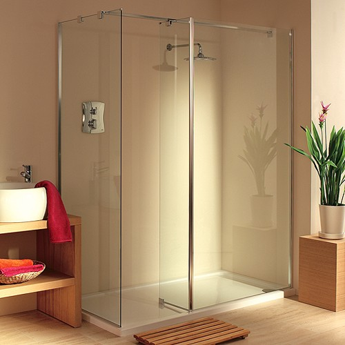 Frameless Walk In Shower Enclosure. Right Hand. 1600x900mm. additional image