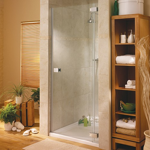 Hinged Shower Door & Glass Panel. Right Hand. 900x1950mm. additional image