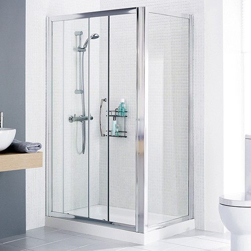1400x1000 Shower Enclosure, Slider Door & Tray (Right Handed). additional image