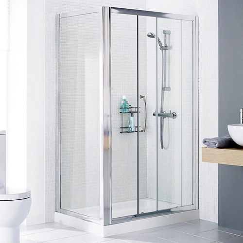 1400x700 Shower Enclosure, Slider Door & Tray (Left Handed). additional image