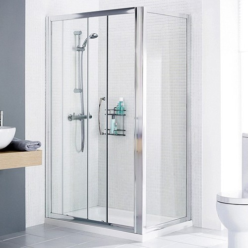 1600x800 Shower Enclosure, Slider Door & Tray (Right Handed). additional image