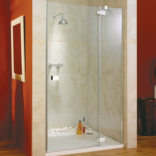 Hinged Shower Door & Glass Panel. Right Hand. 1400x1950mm. additional image