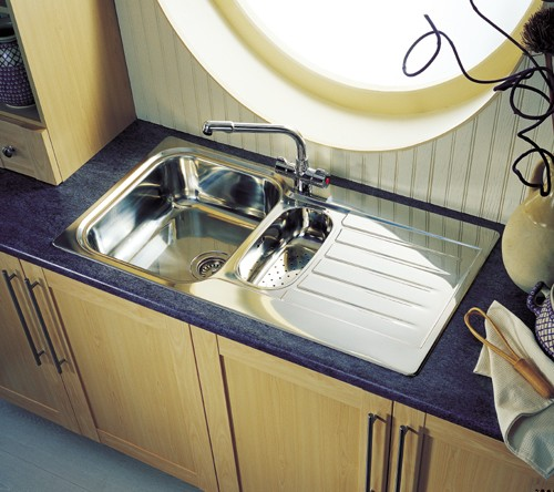 Seattle 1.5 bowl stainless steel kitchen sink. Reversible. Leisure ...