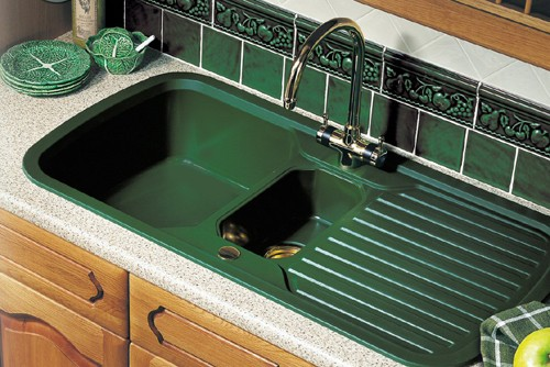 1 5 Bowl Green Sink With Brass Tap Amp Waste Rangemaster