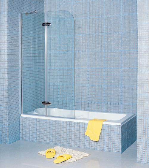 Infinity Hinged Double Bath Screen. 1100mm. 8mm Glass. Matrix ...