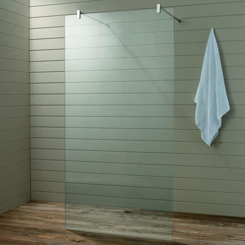 Wet Room Glass Shower Screen 900x1900x10mm Matrix
