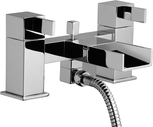 Waterfall Bath Shower Mixer Tap With Shower Kit & Wall Bracket. additional image