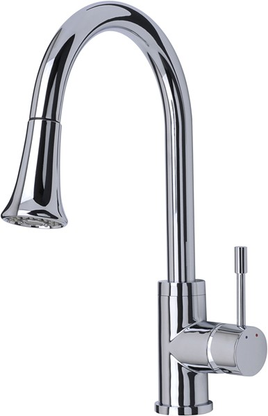 Shine Kitchen Tap, Multi Mode Pull Out Rinser (Chrome). additional image