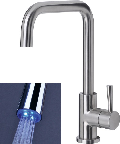 Melo Glo Kitchen Tap With LED Spout Lights (Stainless Steel). additional image