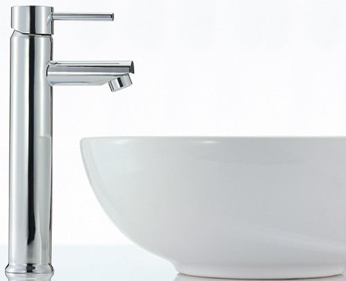 Basin Mixer Tap, Freestanding, 292mm High (Chrome