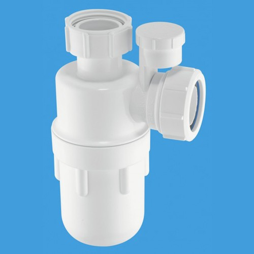 "1 1/4"" x 75mm Water Seal Bottle Trap & Anti-Syphon. additional image"