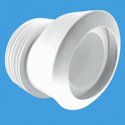 "WC 4""/110mm Offset Toilet Pan Connector (Macfit). additional image"