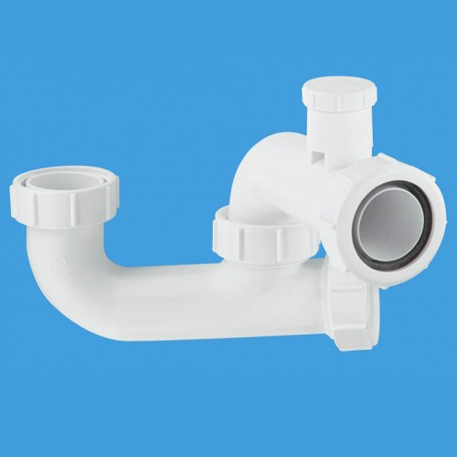 "1 1/2"" x 50mm Seal Bath Trap, Cleaning Eye & Anti-Syphon. additional image"