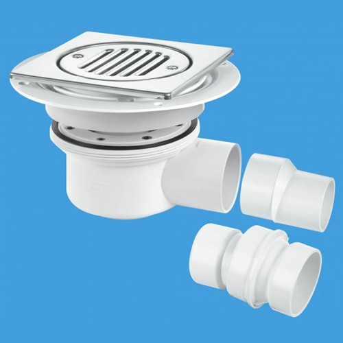 50mm Shower Trap Gully For Tiled Or Stone Flooring (2 Piece). additional image