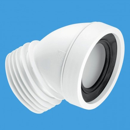 "WC 4""/110mm 45 Degree Toilet Pan Connector. additional image"