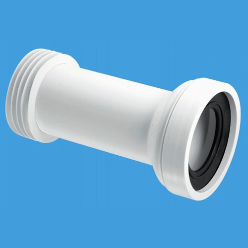 "WC 4""/110mm Straight Toilet Pan Adjustable Connector. additional image"