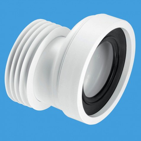 "WC 4""/110mm Offset Rigid Toilet Pan Connector. additional image"