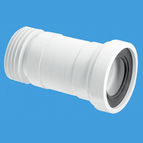 "WC 4""/110mm Toilet Pan Flexible Connector 410mm. additional image"
