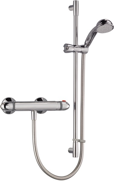 Thermostatic Bar Shower Valve With Shower Kit (Chrome). additional image