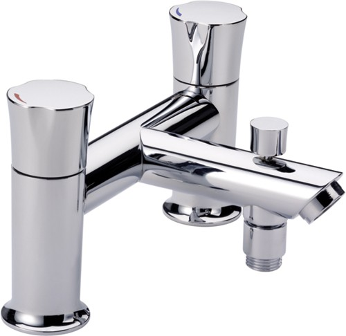 Deck Mounted Bath Shower Mixer Tap Chrome Additional Image