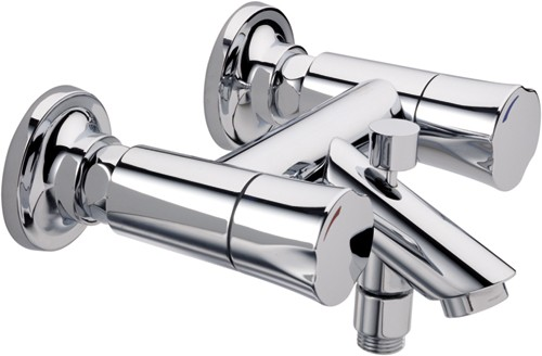Wall Mounted Bath Shower Mixer Tap Chrome Additional Image