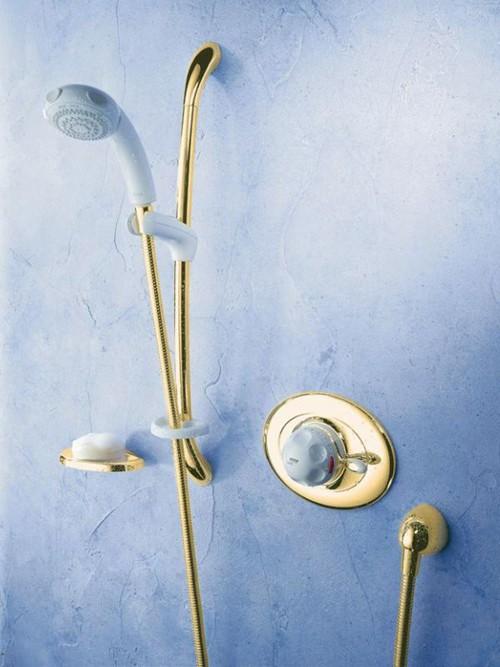 Modern shower furniture bathroom showers - Concealed Thermostatic Shower Kit Amp Slide Rail In White