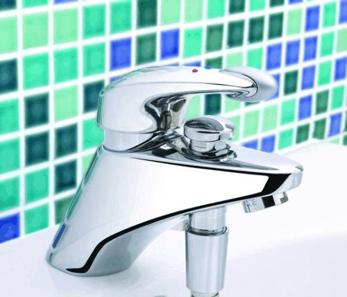 1 Tap Hole Bath Shower Mixer With Kit Chrome Additional Image