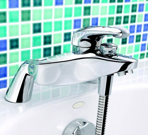 Bath Shower Mixer Tap With Kit Chrome Additional Image