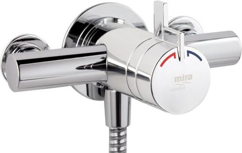 Exposed Thermostatic Shower Valve Chrome Mira Miniduo