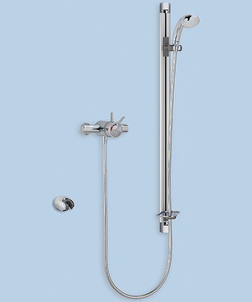 Exposed Thermostatic Shower Valve With Shower Kit (Chrome). additional image