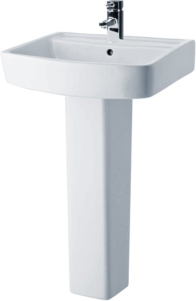 Bliss 520mm Basin & Pedestal (1 Tap Hole). additional image