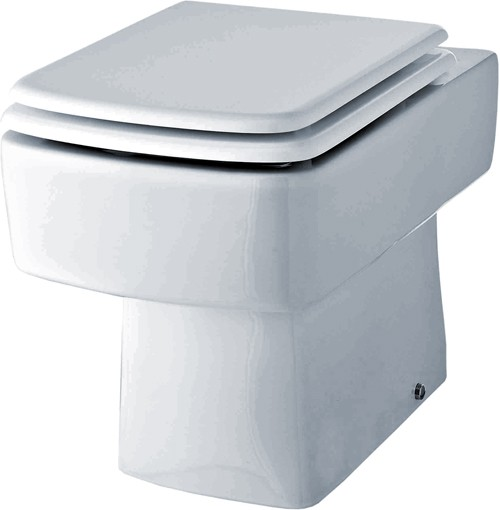 Bliss Square Back To Wall Toilet Pan With Seat. additional image