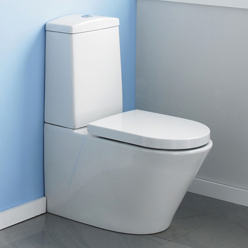 Solace Toilet With Push Flush Cistern & Soft Close Seat. additional image