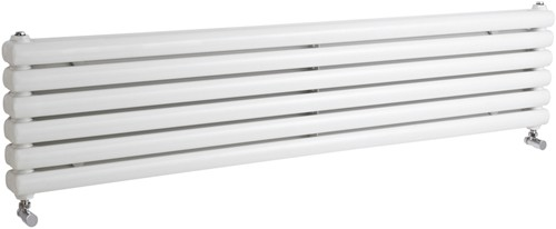 Peony Double Radiator. 5705 BTU (White). 1500mm Wide. additional image