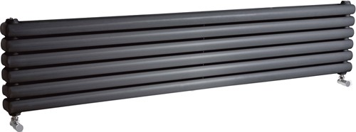 Peony Double Radiator. 6702 BTU (Anthracite). 1800mm Wide. additional image