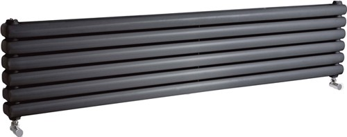 Peony Double Radiator. 5705 BTU (Anthracite). 1500mm Wide. additional image