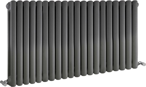Peony Double Radiator. 7108 BTU (Anthracite). 1223x635mm. additional image