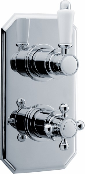 Traditional Twin Concealed Thermostatic Shower Valve. additional image