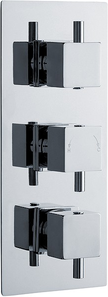 "3/4"" Triple Thermostatic Shower Valve With Diverter. additional image"