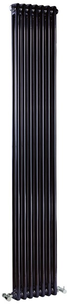 Regency 2 Column Radiator (Black). 335x1800mm. 4471 BTU. additional image